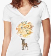 Keeper of Skies III Women's Fitted V-Neck T-Shirt