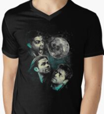 The Mountain Team Free Will Moon - Supernatural Edition Men's V-Neck T-Shirt