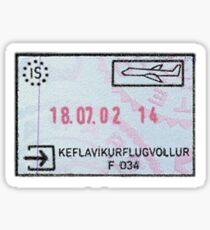Iceland Passport Stamp Sticker