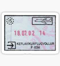 Island Passstempel Sticker