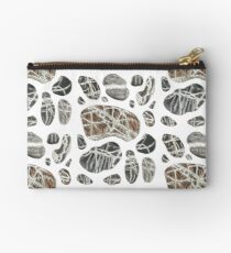 Stones - pen and watercolour drawing / painting - travelling, holiday, beach, nature Zipper Pouch