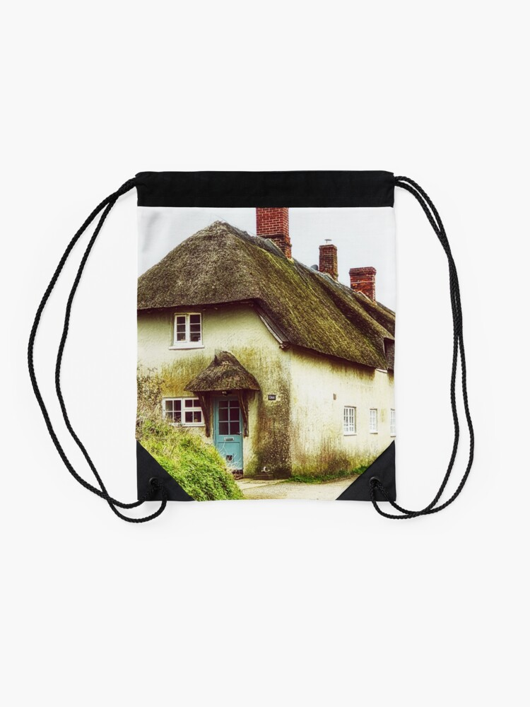 Alternate view of Little Thatched Cottage Drawstring Bag