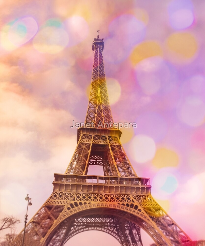 Eiffel Tower Sunset by Janet Antepara