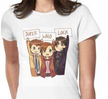 Chibi SuperWhoLock Womens Fitted T-Shirt