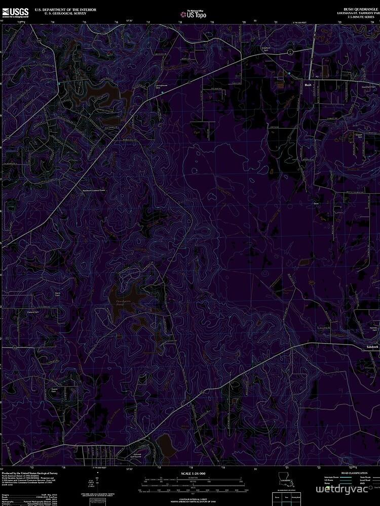 USGS TOPO Map Louisiana LA Bush 20120309 TM Inverted von wetdryvac