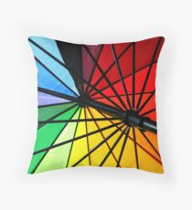 Colour Wheel Throw Pillow