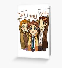 Chibi Team Free Will Ver. 2 Greeting Card