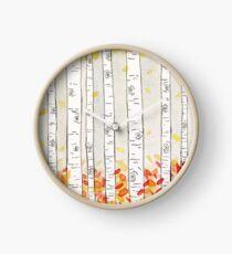 autumn aspen Clock