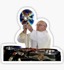 DJ Earth Pope Francis, EDM Holy Father Sticker