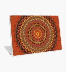 Autumn Leaves Rust Mandala Laptop Skin