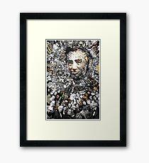 "Title: ""Rendering Myself Worthy"" Abe Lincoln, Slavery, Civil War Meta Collage Framed Print"