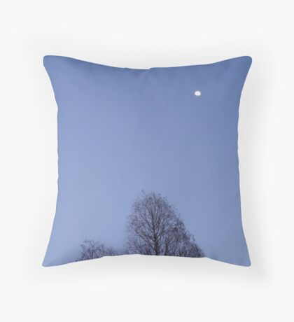 Cypress Trees and the Three Quarter Moon Throw Pillow