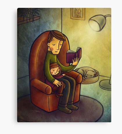 Reading stories Canvas Print