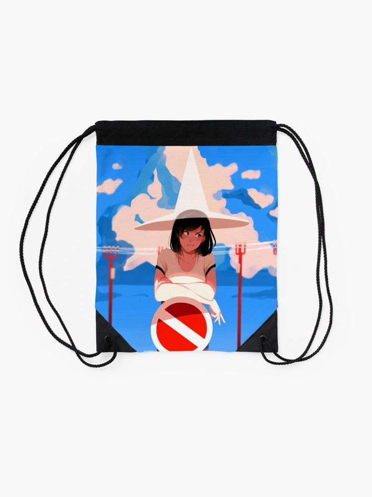 Alternate view of summer magic Drawstring Bag