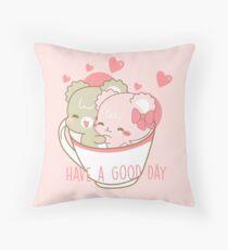 Sugar Cubs, Have a Good Day Throw Pillow