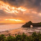 Bali Tanah Lot Temple Complex Sunset by Bobby McLeod