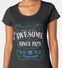 40th Birthday Gift Awesome Since 1979 Women's Premium T-Shirt