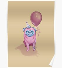 Party pug Poster