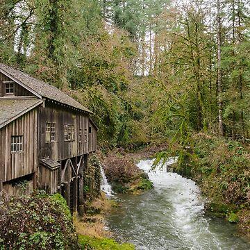 Cedar Creek Grist Mill Landscape by cheesim