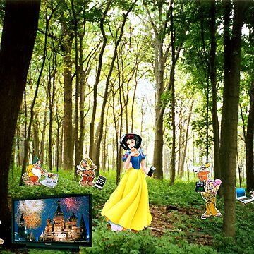 Snow white and the TechnoDwarfs by blueskies