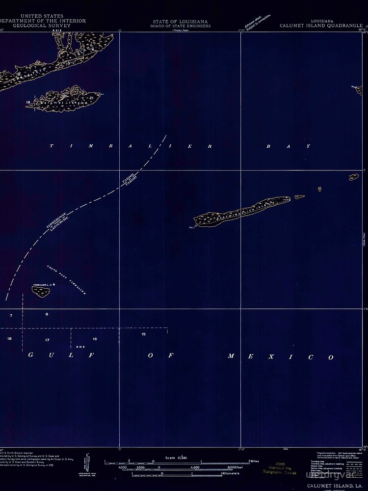 USGS TOPO Map Louisiana LA Calumet Island 333688 1935 31680 Inverted von wetdryvac