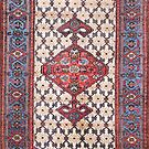 Hamadan  Antique Persian Rug by Vicky Brago-Mitchell