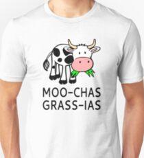 Camiseta unisex Moo-chas Grass-ias (Muchas Gracias)