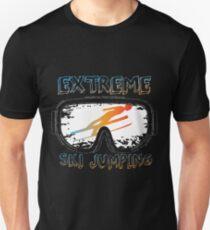 Ski jumping skis snow goggles Unisex T-Shirt
