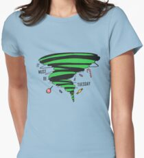 Supernatural: It must be a Tuesday! (Candy Version) Womens Fitted T-Shirt