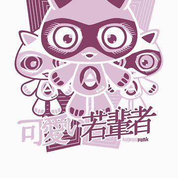 Adorable Mascot Stencil by KawaiiPunk