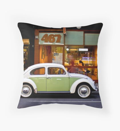 Retro Beetle Throw Pillow