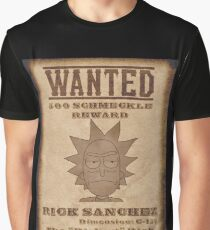 Rick and Morty - Old West Rick Sanchez Wanted Poster Graphic T-Shirt