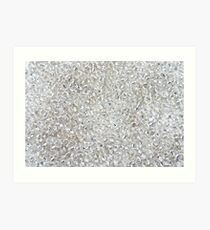Silver Rocaille Seed Beads  Art Print