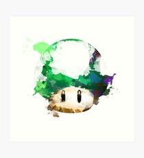 Watercolor 1-Up Mushroom Art Print