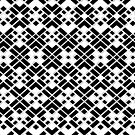 Abstract geometric pattern - black and white. by kerens