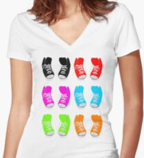 High Tops Women's Fitted V-Neck T-Shirt