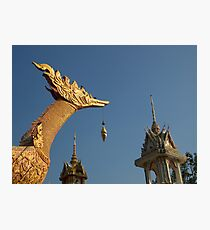 Temple sculptures, Hua Hin, Thailand. Photographic Print
