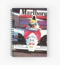 Ayrton Senna in his McLaren Honda  Spiral Notebook