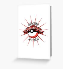 Elite Four Champion Red Greeting Card