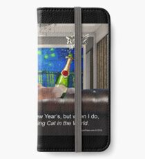 The Most Interesting Cat New Year's iPhone Wallet/Case/Skin
