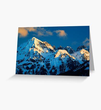 Winter Peaks Greeting Card