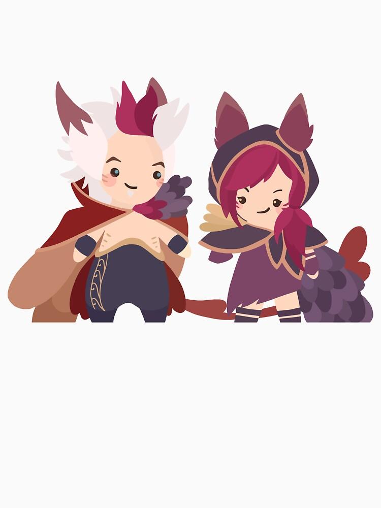 Xayah & Rakan - Cute Chibbis von LeyoShop