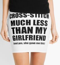 Cross-Stitch Boyfriend Funny Valentine Gift Idea For My Bf From Girlfriend I Love Mini Skirt