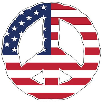 Peace Sign USA by identiti