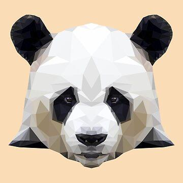 Cute Graphic Panda - Panda Polygon by Juttas-Shirts