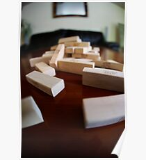 Jenga Blocks Crash Poster