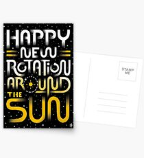 Happy New Rotation Around The Sun Postcards