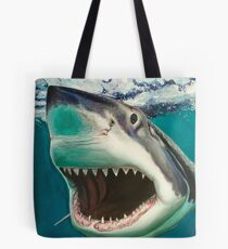 Great White Shark Surf Tote Bag