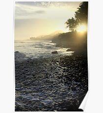 Black Sand Beach (El Salvador) Poster