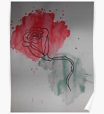 Water Rose Poster